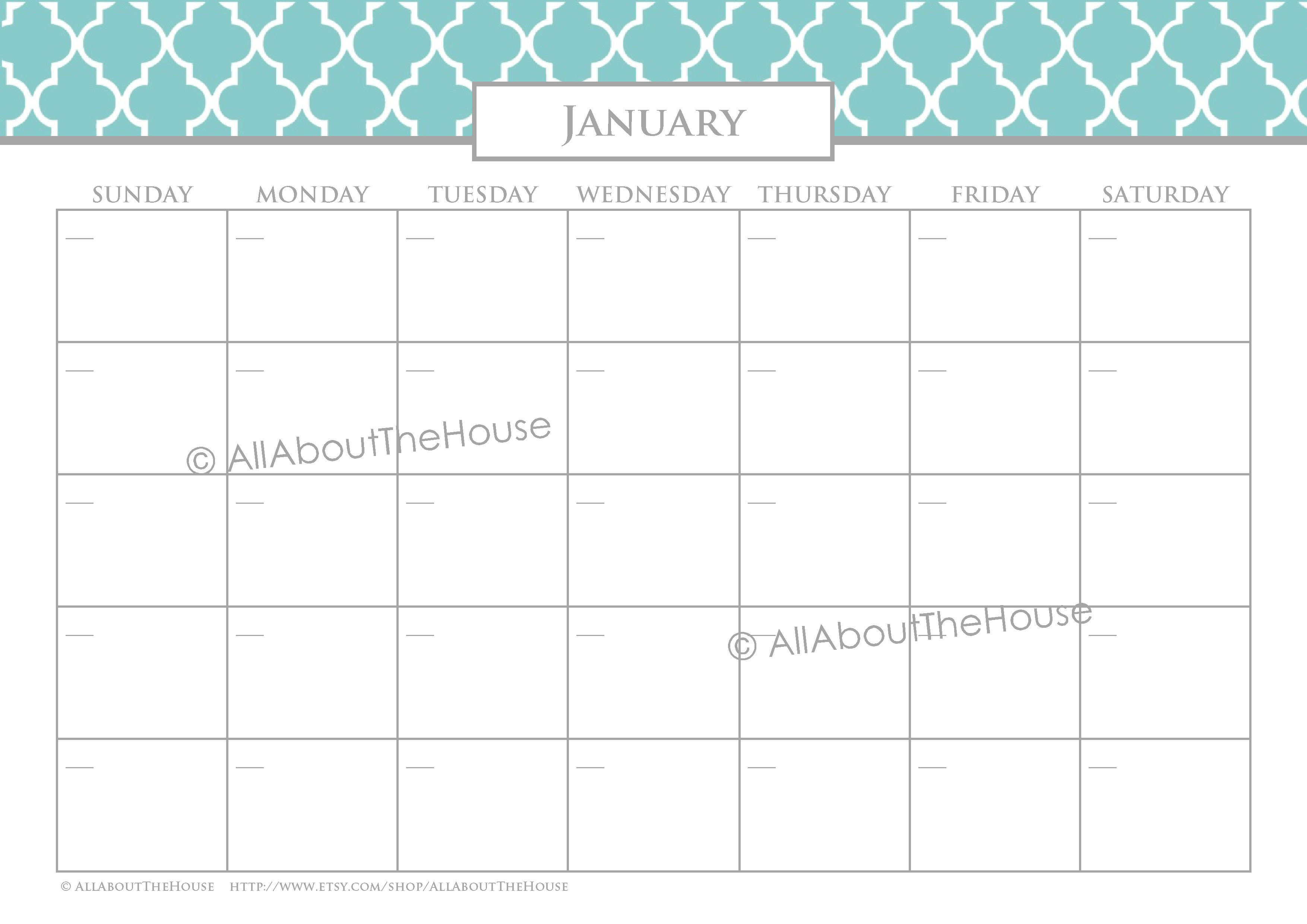 12 Monthly Meal Planners - Quatrefoil, blue, grey