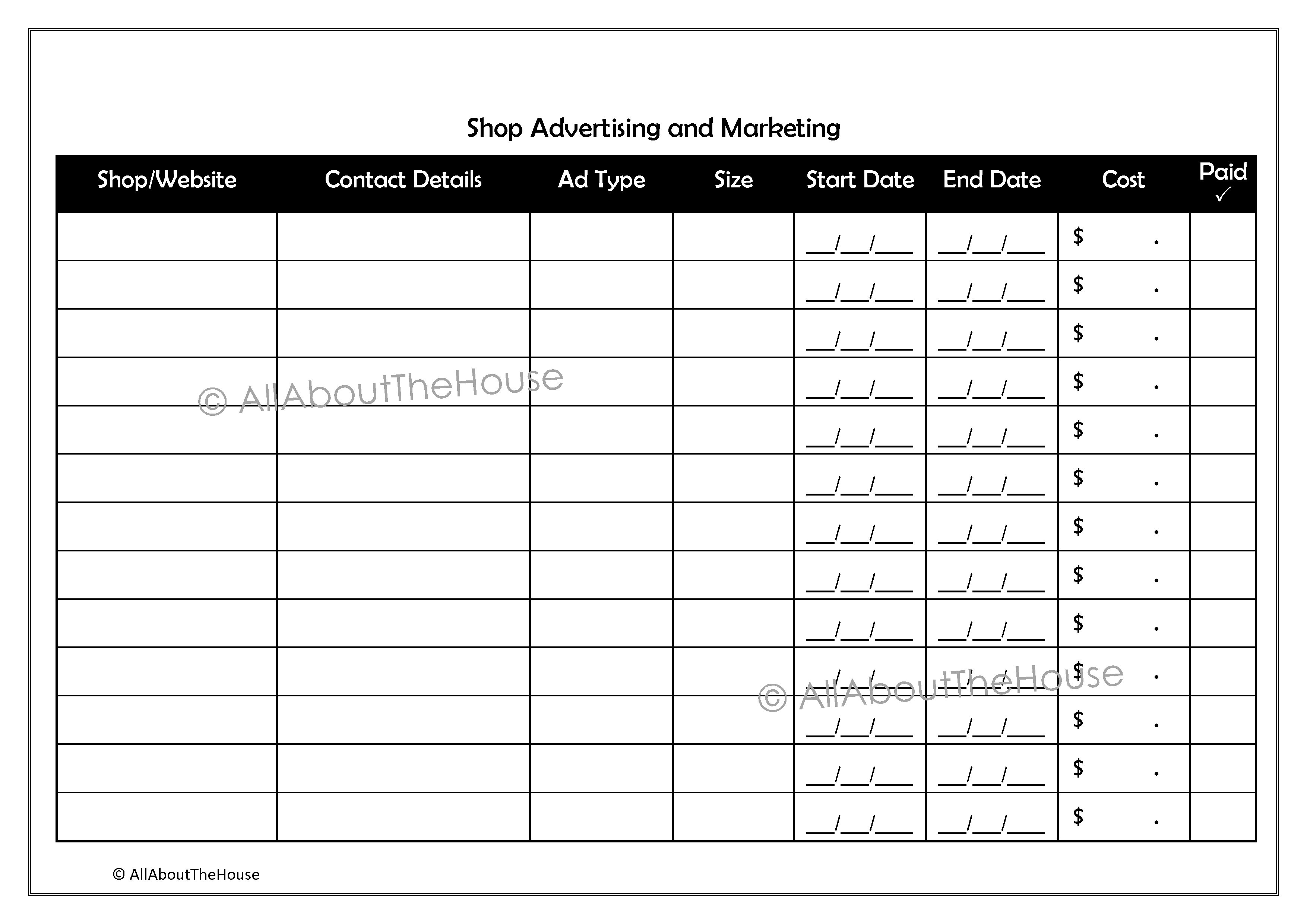 202. Advertising & Marketing - AllAboutTheHouse