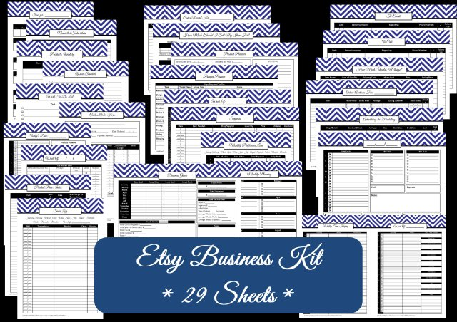 chevron etsy business kit - AllAboutTheHouse