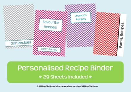 chevron recipe binder - allaboutthehouse