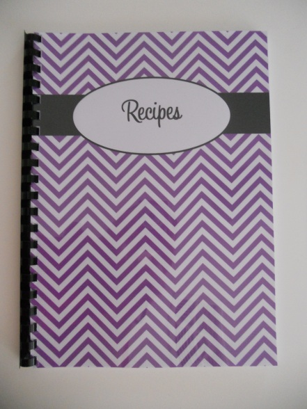 Chevron Recipe Book - AllAboutTheHouse