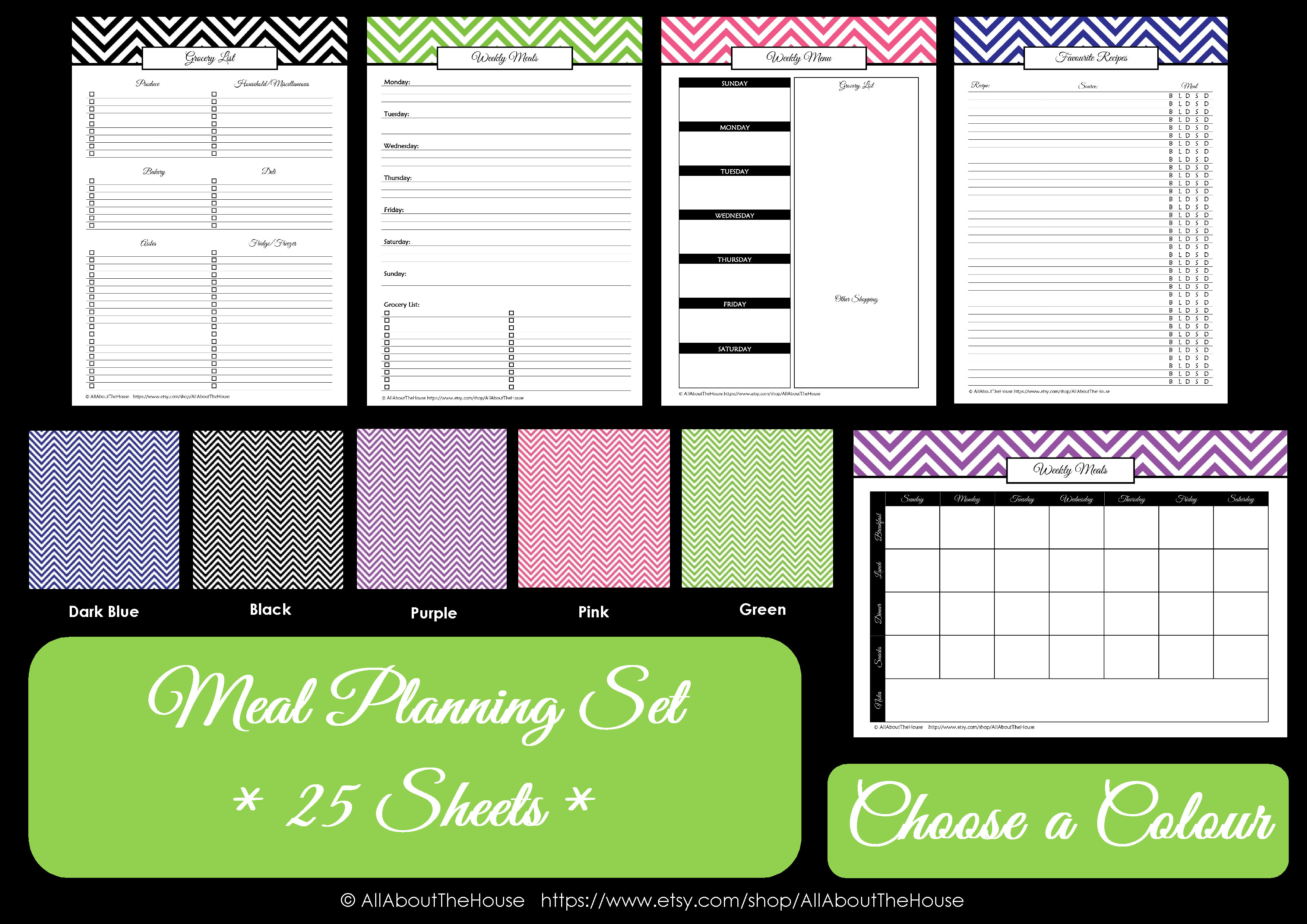 household binder meal planning set all about planners