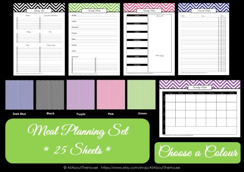 Colour Chart - Meal Planning