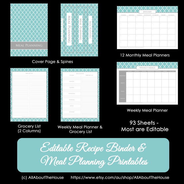 Meal Planner & Recipe Binder Quatrefoil