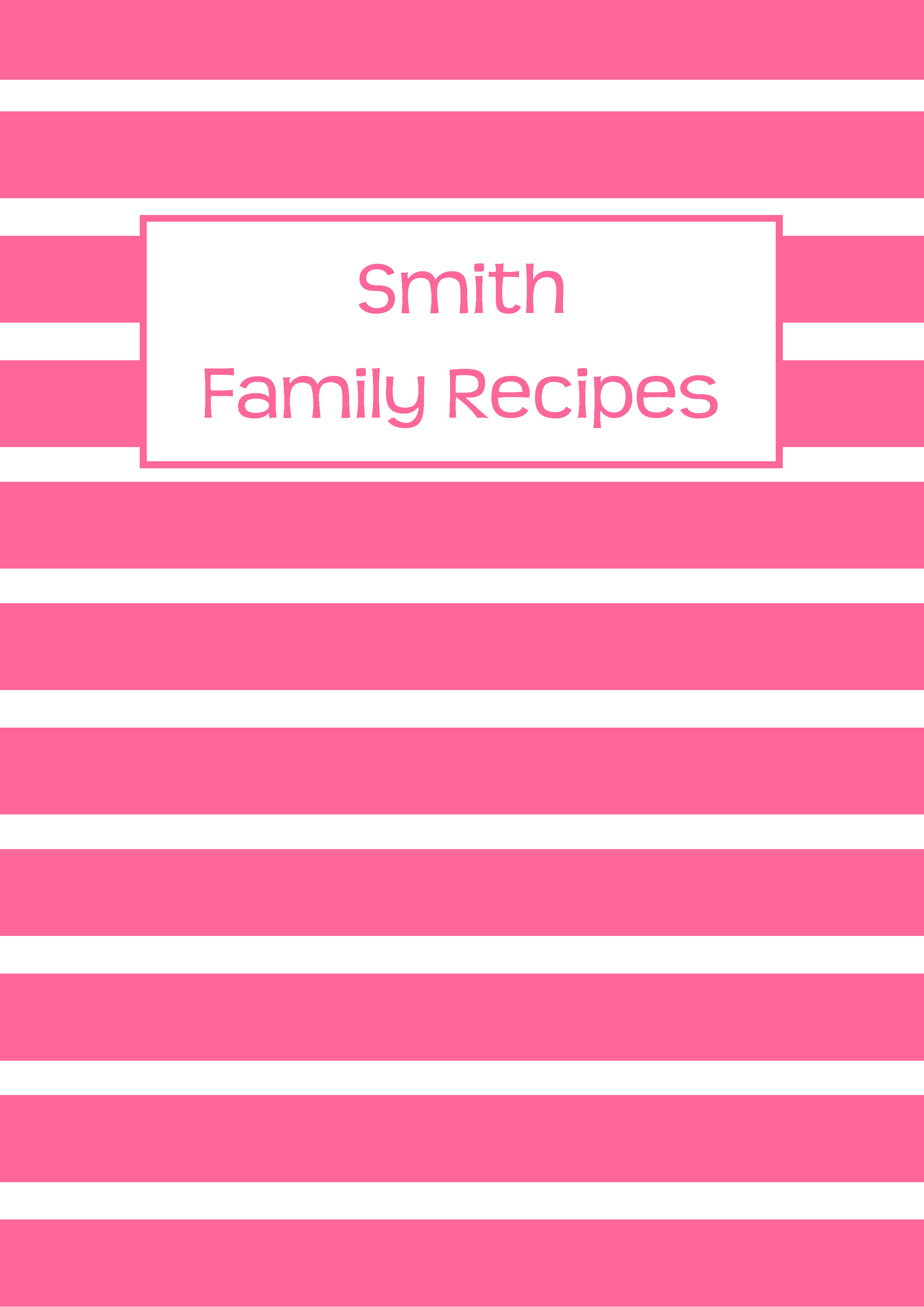 Recipe Binder Cover Page Pink Allaboutthehouse Printables Spine Template Free