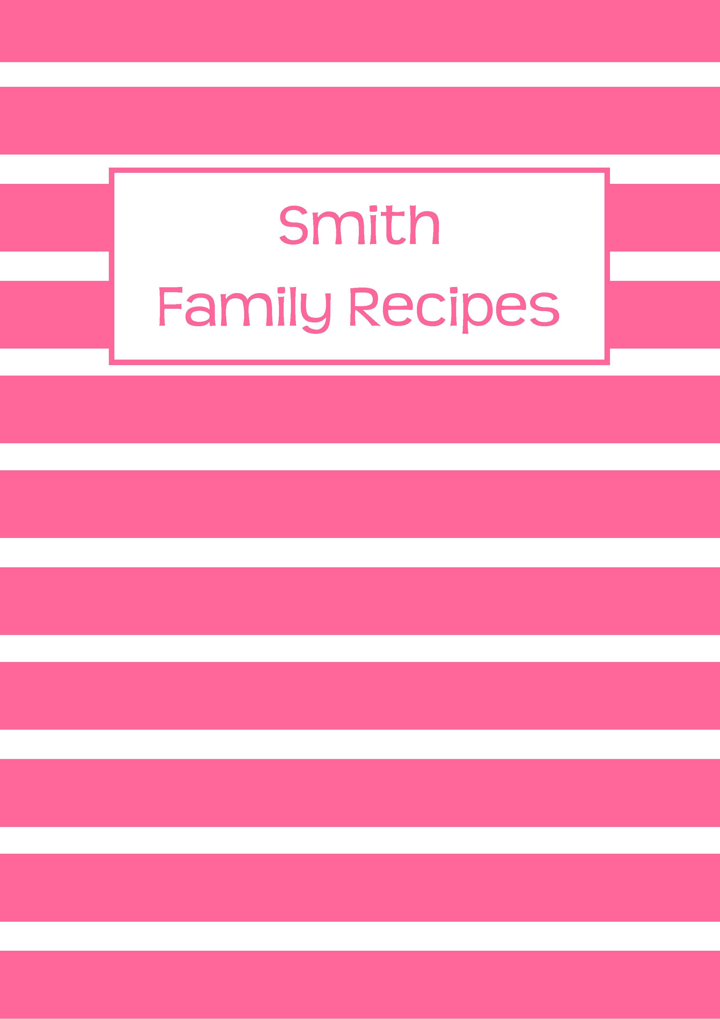 Full page recipe templates binder maxwellsz