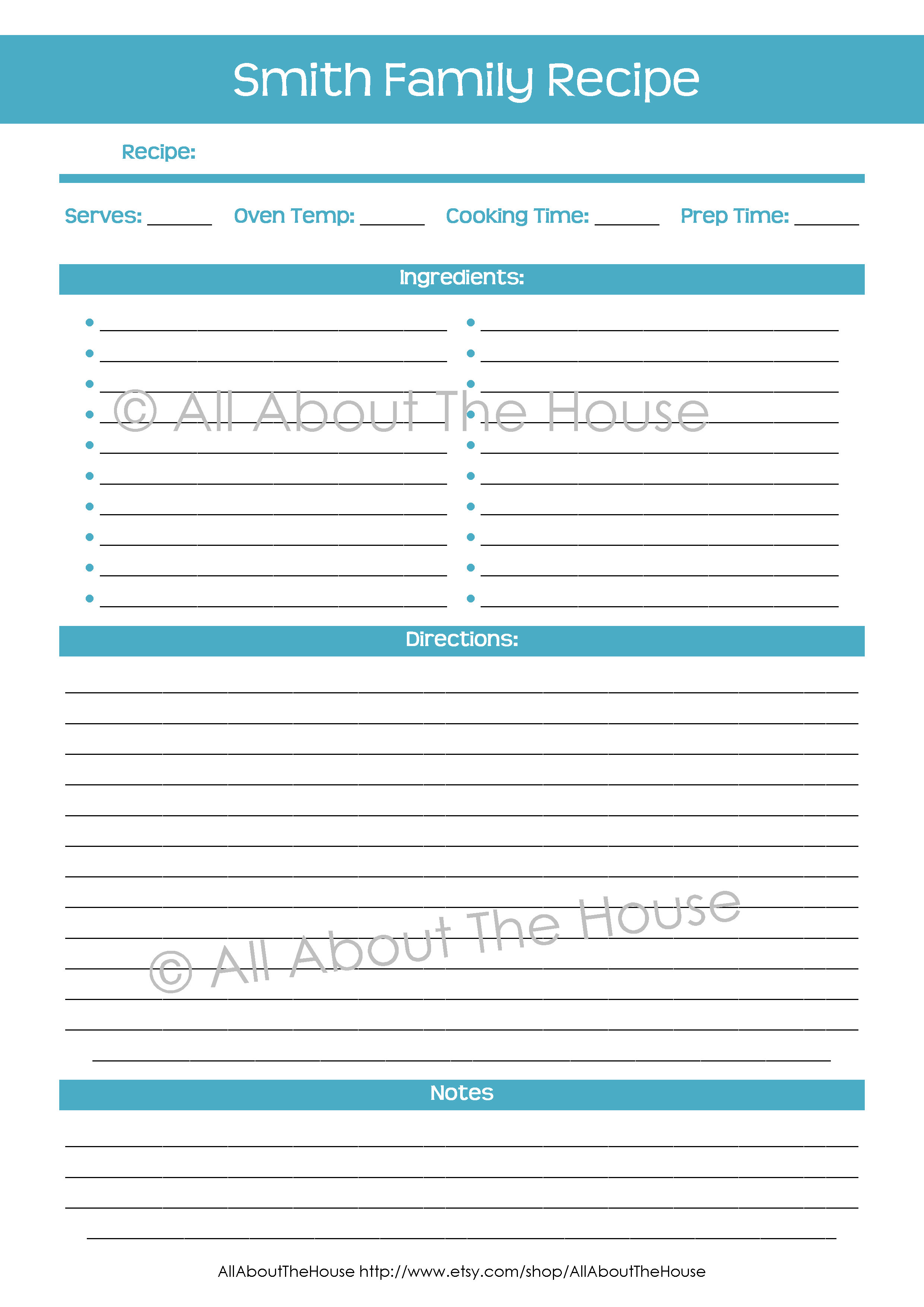 Make Your Own Personalised Printable Recipe Binder! - AllAboutTheHouse