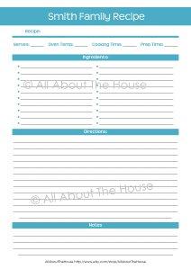 Recipe Sheet(1)