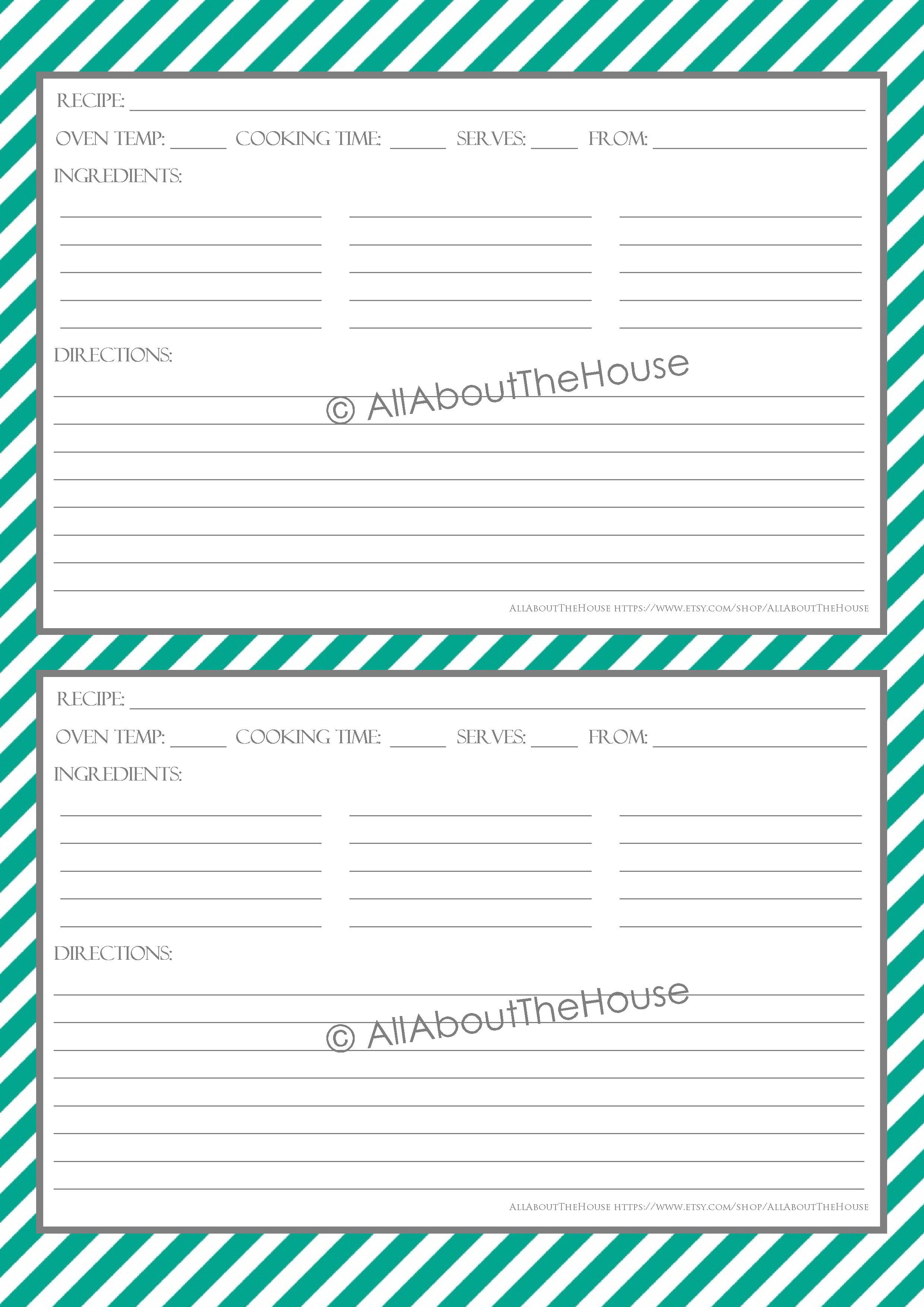 Stripe Recipe Sheet Style 5- 30, grey