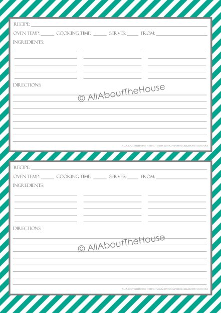 Stripe Recipe Sheet Style 5- 30, grey
