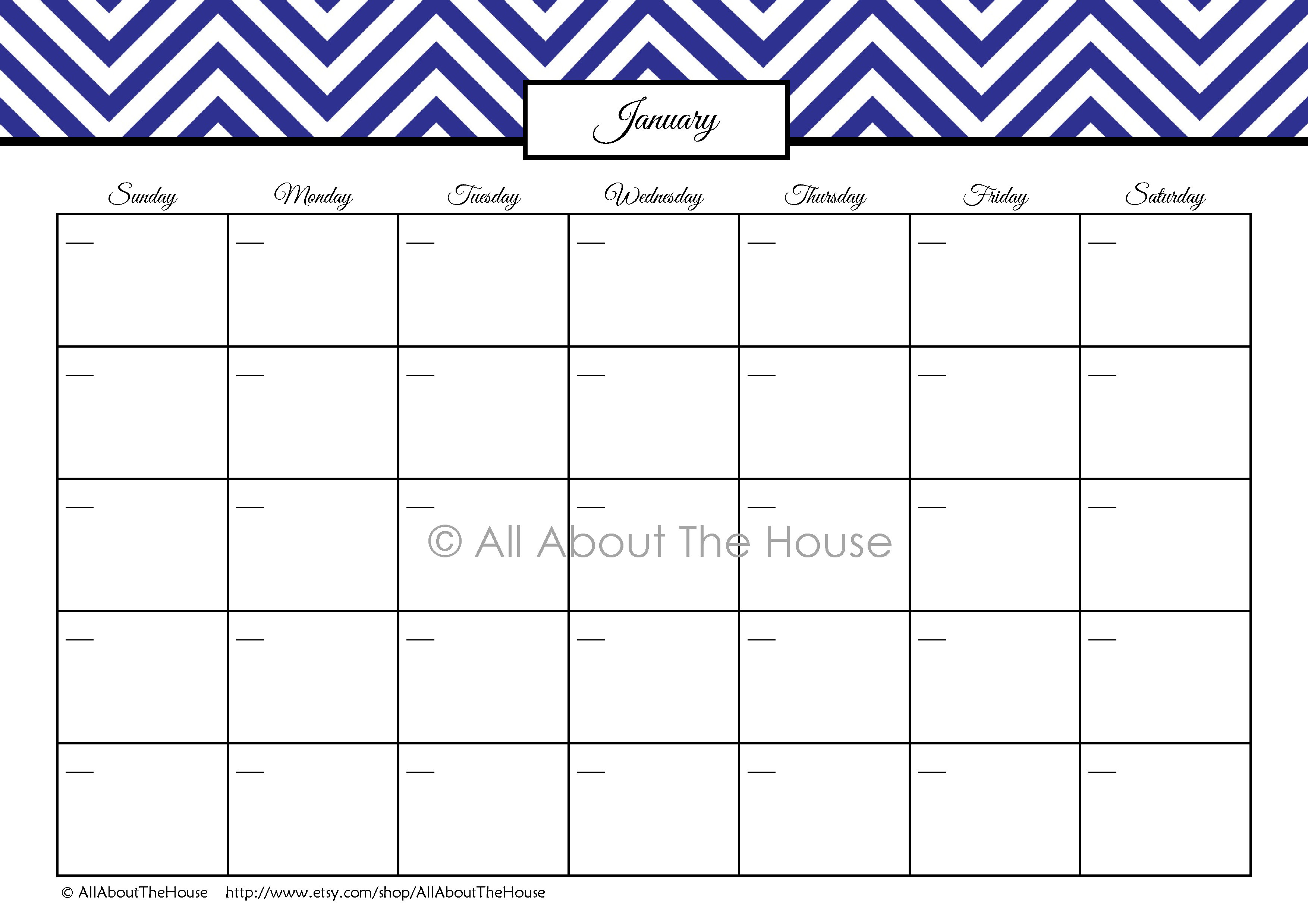 Monthly Calendar I Can Type On : Chevron finance binder set household printables