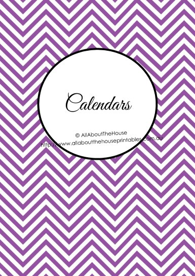 Calendars binder cover chevron printable planner