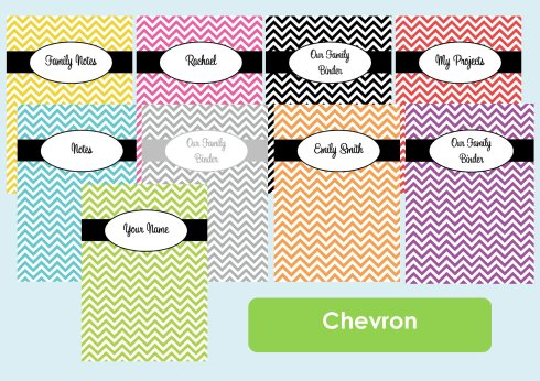 Chevron binder cover listing photo