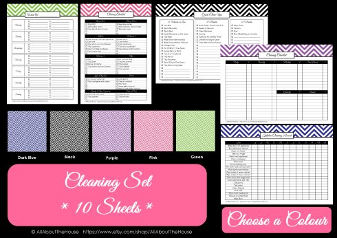 Colour Chart - Cleaning