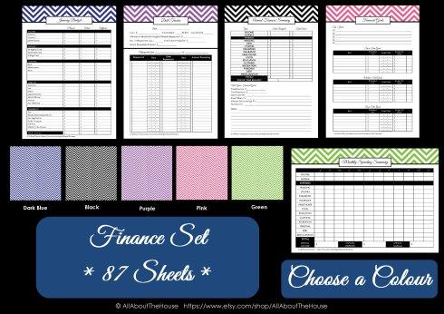 Colour Chart - Finance Set