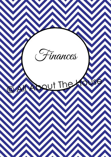 Finance Cover and Spine - Blue
