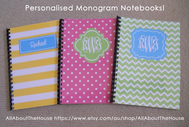 Monogram Notebooks - AllAboutTheHouse2