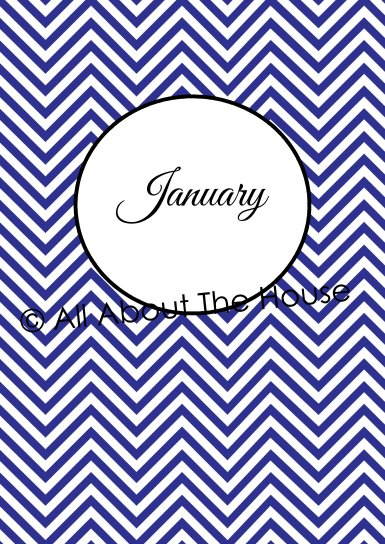 Monthly Receipts - Divider Pages Jan-June