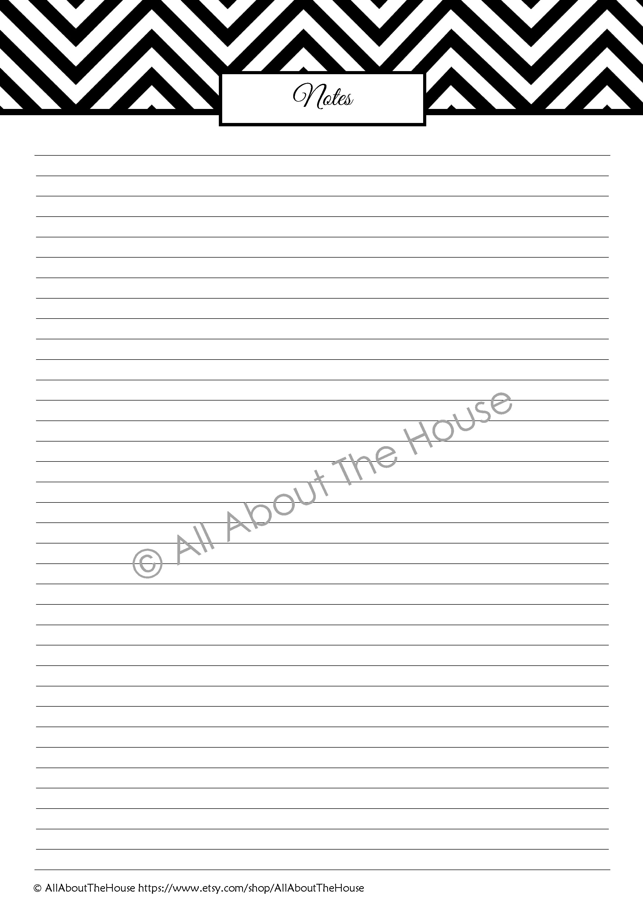 lined note sheet | AllAboutTheHouse Printables