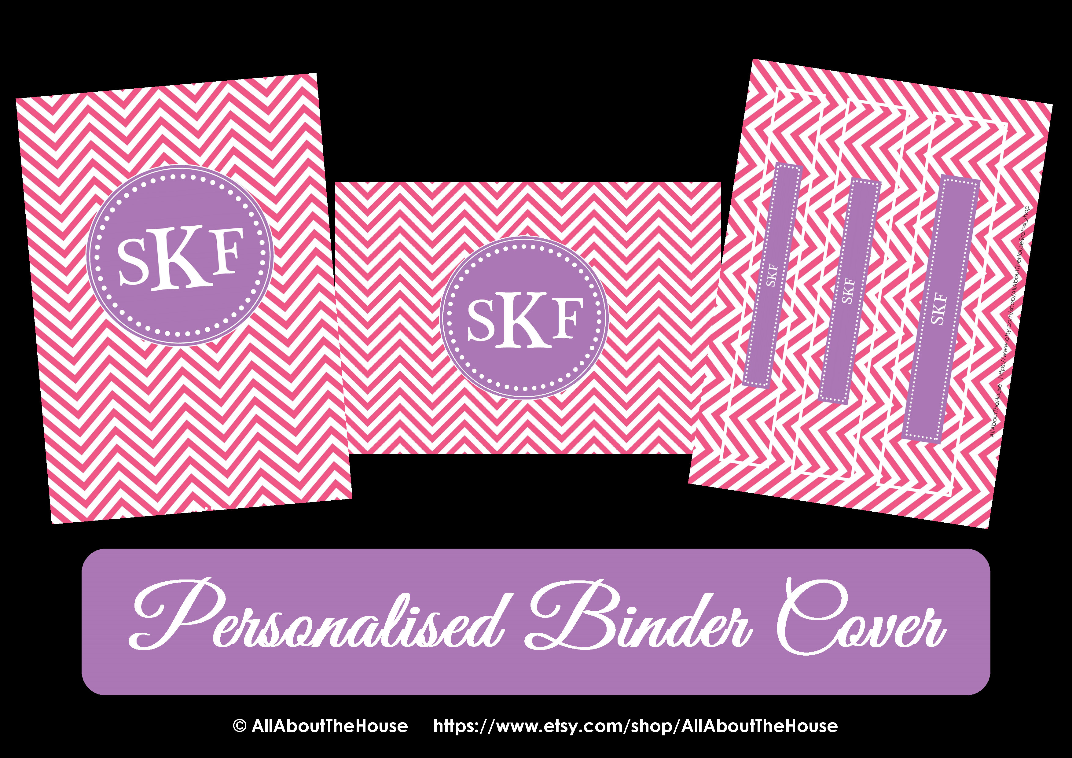 personalised binder cover allaboutthehouse7