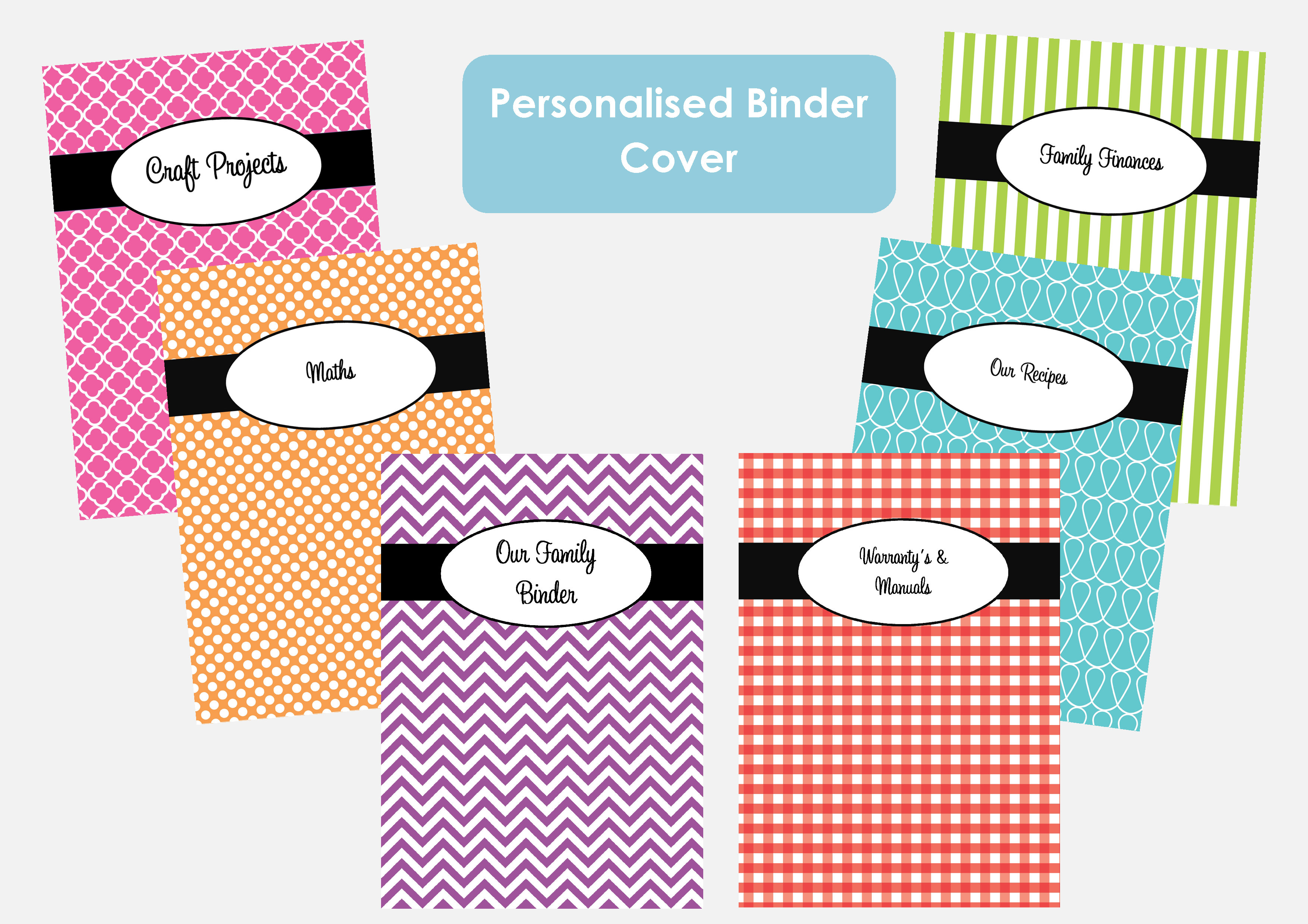 Printable recipe binder cover templates lzk gallery