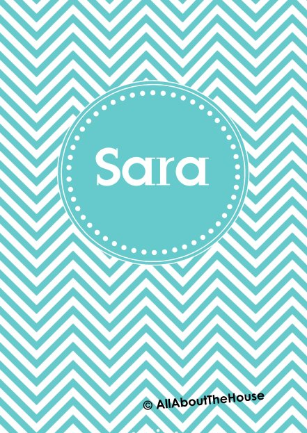 Preppy Binder Cover Chevron Style 1