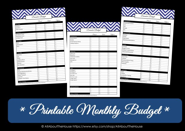 Printable monthly budget listing image(1)