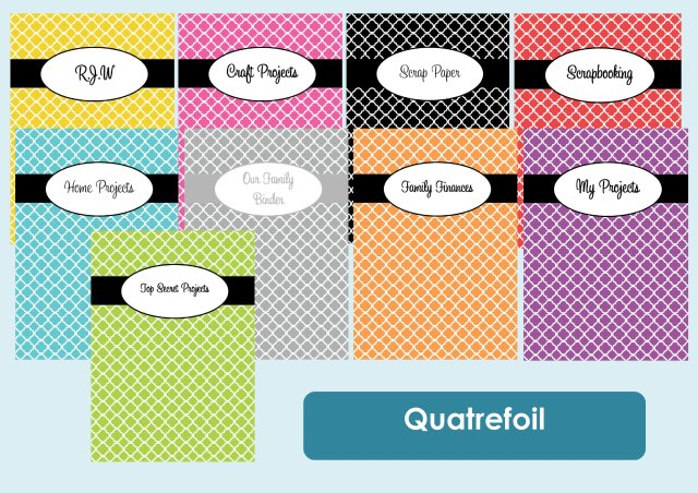 Quartrefoil binder cover listing photo