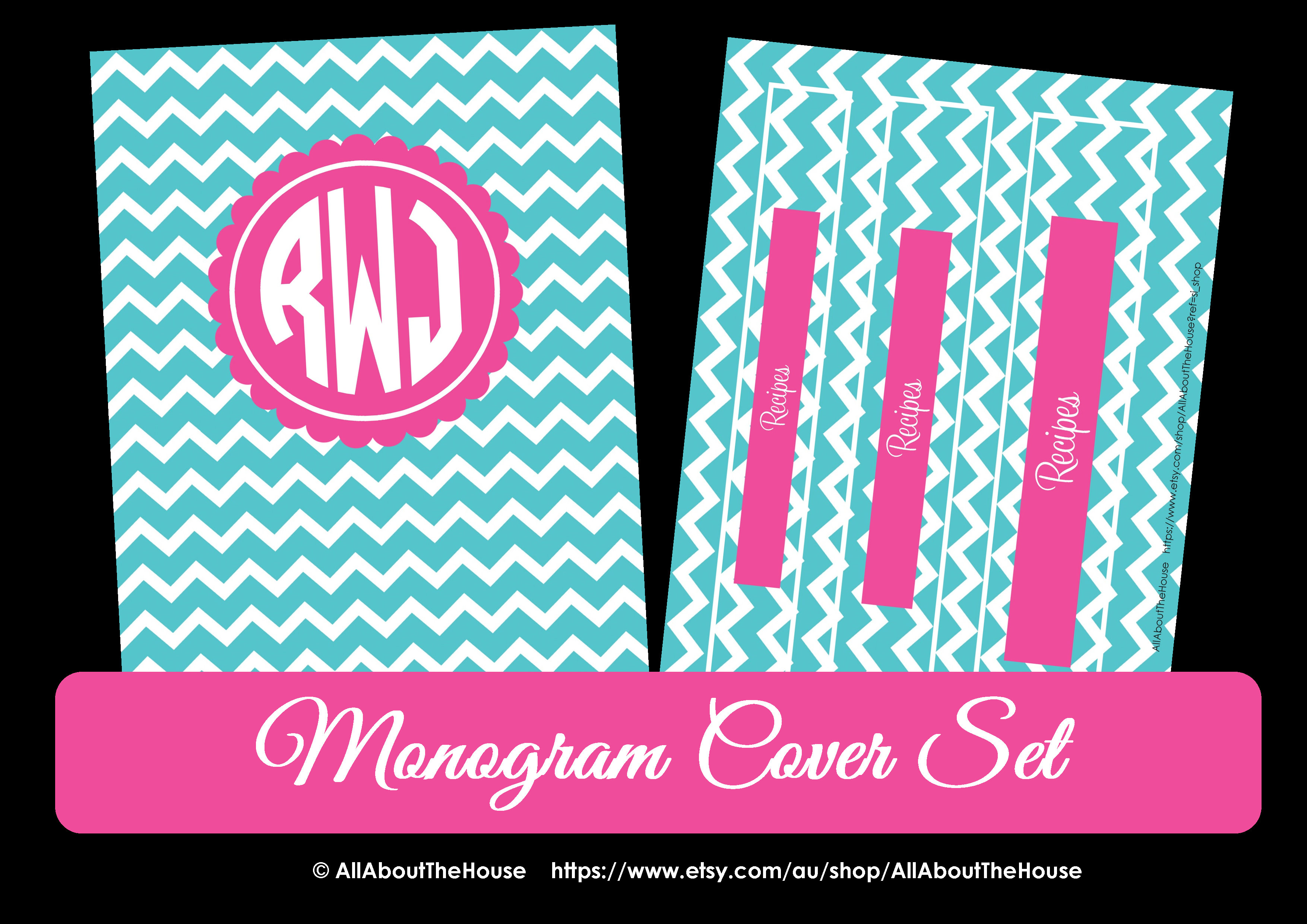 binder cover and spine templates