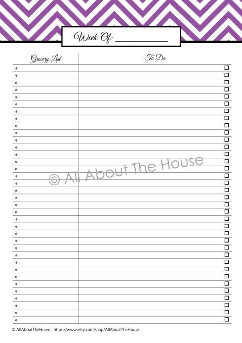 Shopping List and Checklist - Purple(1)