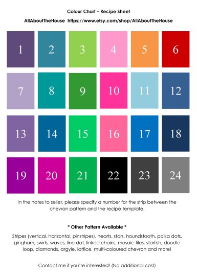 Colour Chart For chevron recipe sheet2