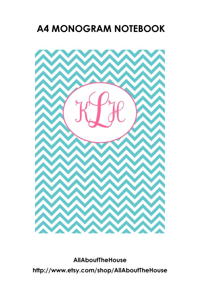 monogram notebook photo 1