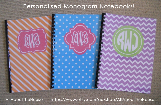 Monogram Notebooks - AllAboutTheHouse