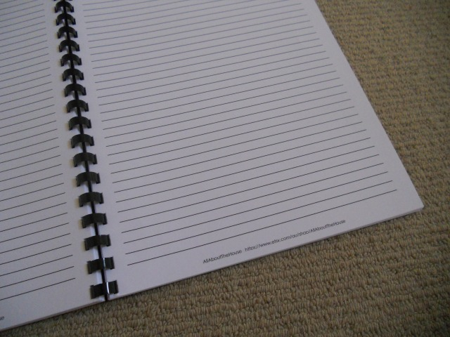 personalised notebook lined