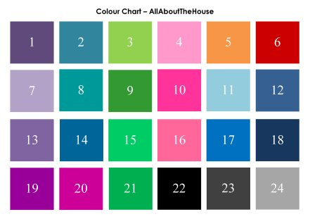 Colour Chart - AllAboutTheHouse