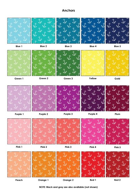 Colour Swatches - Anchors