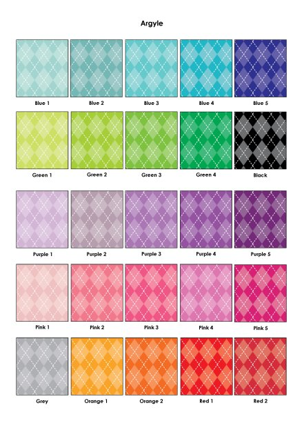 Colour Swatches - Argyle