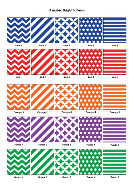 Colour Swatches - Assorted Bright Patterns
