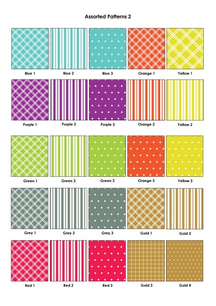 Colour Swatches - Assorted Patterns 2