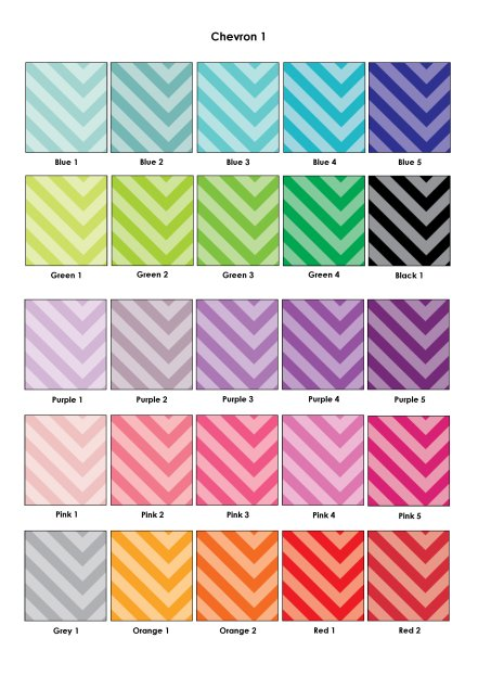 Colour Swatches - Chevron 1