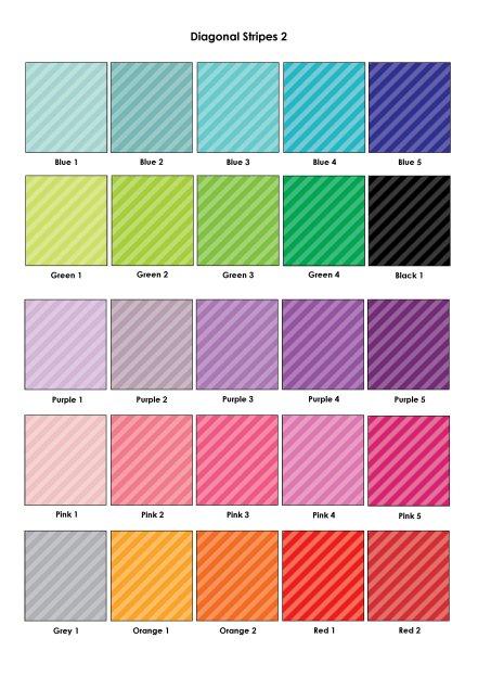 Colour Swatches - Diagonal Stripes 2