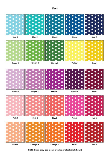 Colour Swatches - Dots