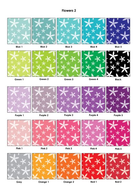 Colour Swatches - Flowers 2