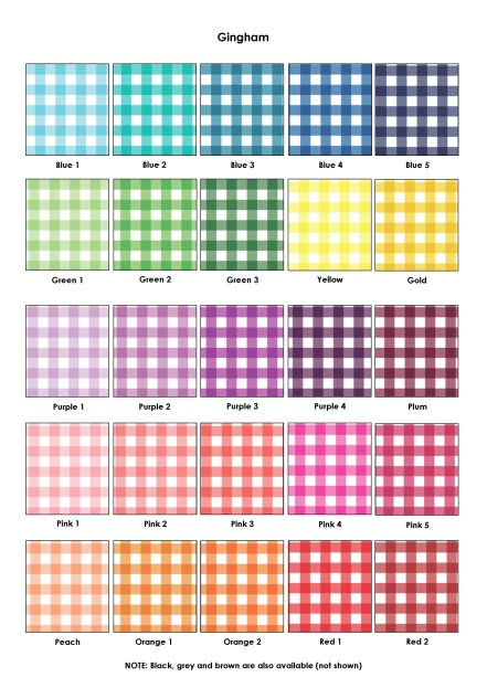 Colour Swatches - Gingham