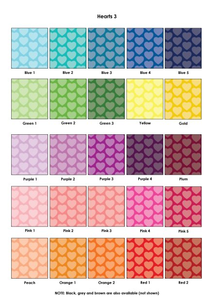 Colour Swatches - Hearts 3
