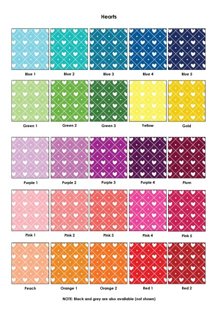 Colour Swatches - Hearts