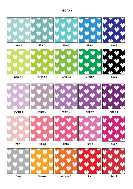 Colour Swatches - Hearts2