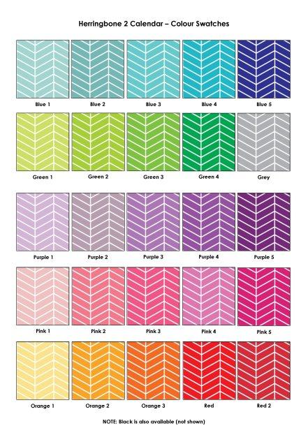 Colour Swatches - Herringbone 2