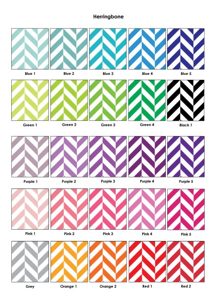 Colour Swatches - Herringbone