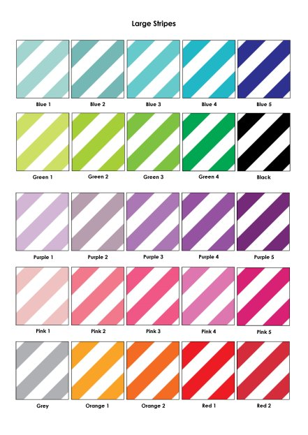 Colour Swatches - Large Stripes